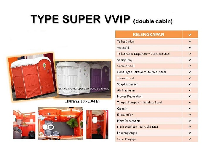 toilet portable type super vvip